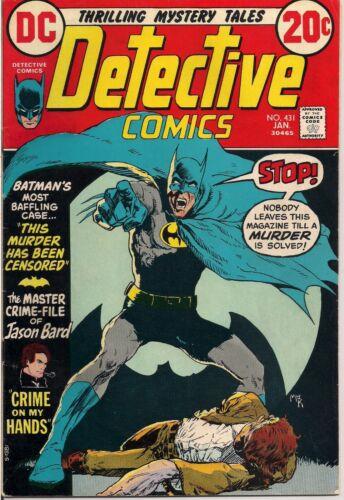 Detective Comics #431 DC Comics 1973 Batman FN/VF 7.0