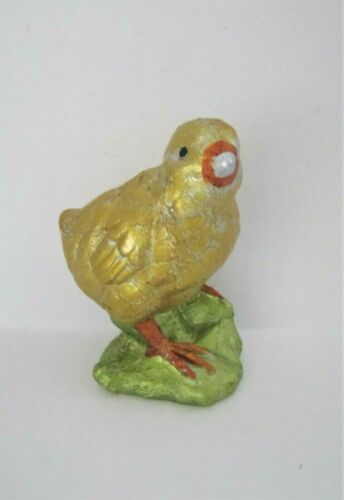"Easter Spring Faux Foil Faux Chocolate Chick Tabletop Decor 5.5"" NEW"