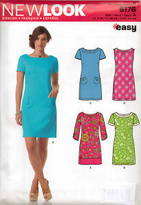 From UK Sewing Pattern Dress 8-18 #6176