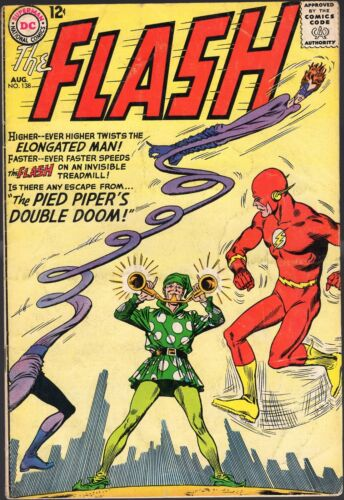 """THE FLASH # 138-1963-""""THE PIED PIPER"""