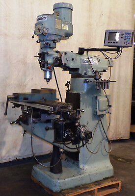 Bridgeport Milling Machine 9 X 42 Table Wacu-rite Dro 300sc 2x G 1-12hp