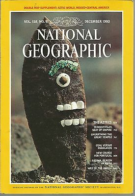 National Geographic December 1980 Aztecs Tenochtitlan Coal Vs Parklands Jackal