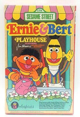 Vintage NEW IN BOX SEALED 1986 Sesame Street Ernie & Bert Playhouse Colorforms