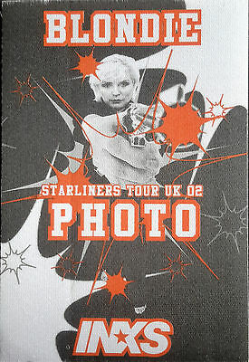 ** BLONDIE ** and ** INXS ** -- SATIN BACKSTAGE PASS -- PHOTO -- 2002 -- UK TOUR