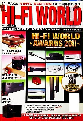 HI-FI WORLD JAN 2012 AWARDS 2011 CYRUS MARTIN LOGAN FIDELITY AUDIO WADIA , used for sale  Shipping to Ireland
