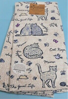 Kay Dee Design 2 Kitchen Towel Set Cats Theme Terry Back Towels