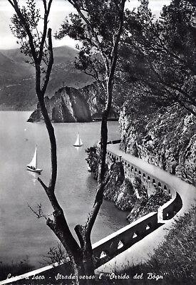 ITALIA RIVA DI SALTO LAGO D ISEO STRADA VERSO L ORRIDA DEL B GN 1960