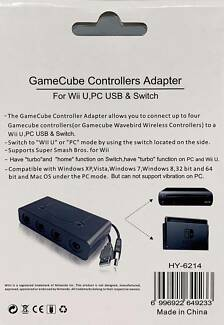 Gamecube Controller Adapter for Wii U Switch & PC USB | Wii