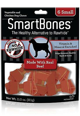 SmartBones Beef Flavor Rawhide-Free Dog Bones and Chews, Small-12 pieces/pack
