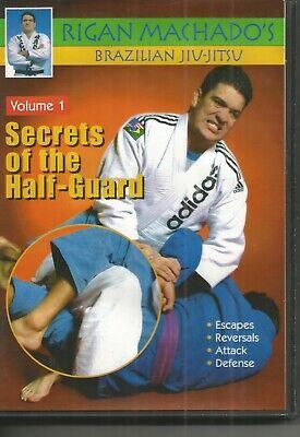 Brazilian Jiu Jitsu Secrets of Half-Guard VOL #1 DVD Rigan Machado FREE SHIPPING