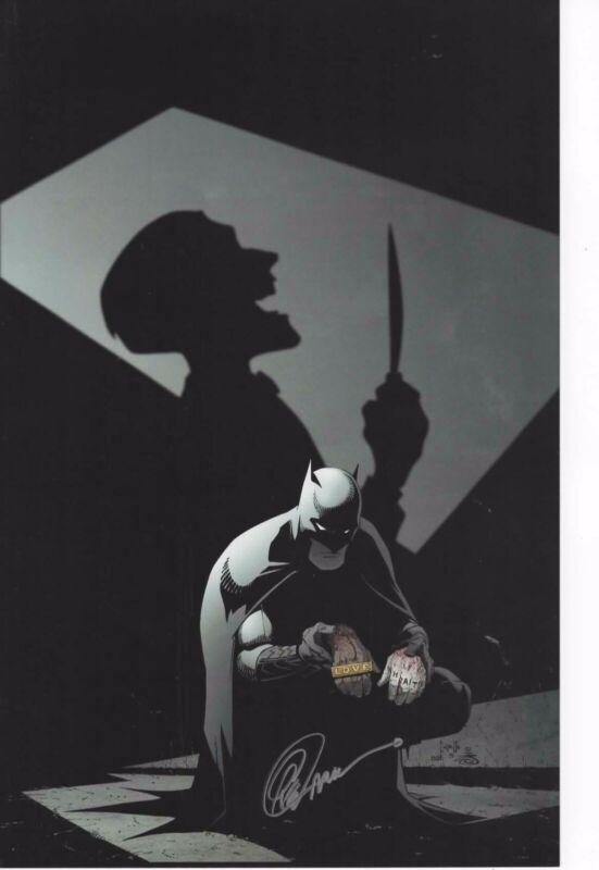 "SIGNED  BY ARTIST GREG CAPULLO  11/""x17/"" BATMAN BATCYCLE ART PRINT"