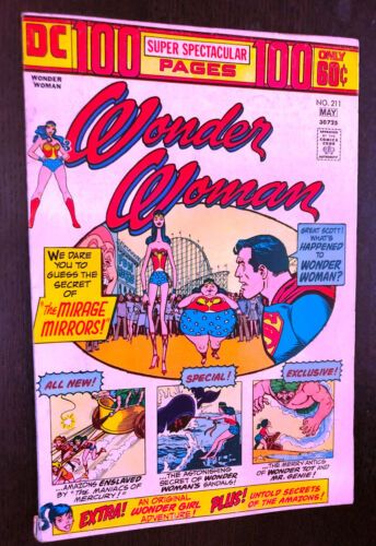 WONDER WOMAN #211 (DC 1974) -- 100 Page Super Spectacular -- VG+