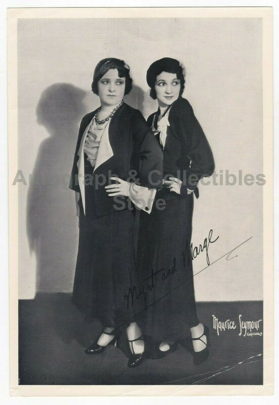 Original Vintage 1930s Myrt & Marge Radio Personalities (CBS) Printed Signature