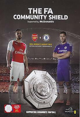 * ARSENAL v CHELSEA - 2015 COMMUNITY SHIELD - MINT PROGRAMME (2nd August 2015) *