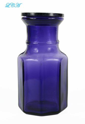 AMETHYST antique CONDIMENT JAR ornately beveled w/ ORIGINAL glass LID INSERT