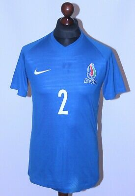 Azerbaijan U-21 National Team away match worn football shirt 2021 #2 Nike Size M image