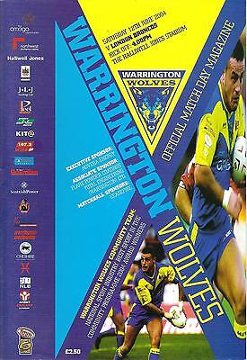 Warrington v London - Super League - 2004