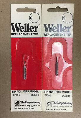 Weller Replacement Soldering Iron Tips Ep 105 Fits Ec3000 Lot Of 2