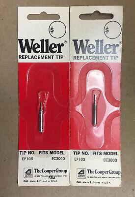 Weller Replacement Soldering Iron Tips Ep 105 Fits Ec3000 Lot Of 2