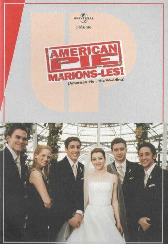 JASON BIGGS ALYSON HANNINGAN French Pressbook AMERICAN PIE:THE WEDDING