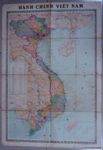 Vietnam Map 1976 printed by Vietnam Cartography Department. 1/10,000,000