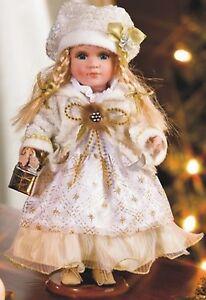 wunderschöne, festlich gekleidete Deko-Puppe Nikita, Porzellan, 28cm, neu