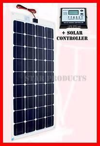 100W Semi Flexible Solar Panel + SOLAR CONTROLLER Camper Boat RV Malaga Swan Area Preview