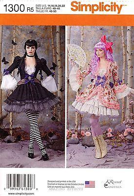 Simplicity Sewing Pattern 1300 Women's 14-22 Steampunk Victorian Costume skirt