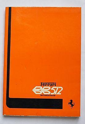 Ferrari BB512 Owner's Manual 130/76
