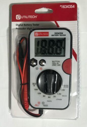 Digital Battery Tester & test leads NEW UtiliTech Model DT-203B MPN 1634354