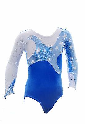 Starlight Long Sleeves Girls / Ladies / Gym / Dance / Disco/ Leotard Blue
