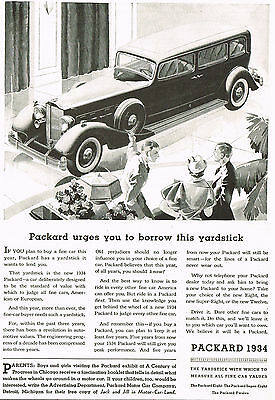 1933 Vintage Packard 1934 Model Limousine Car Automobile Print Ad for sale  Shipping to United States
