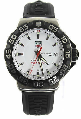WAH1111.BT0714 Tag Heuer Mens Watch Formula 1 White Quartz Rubber Swiss Watch