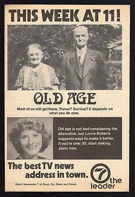 1980 Tv Ad Whio News Lorrie Roberts Dayton Ohio Reports On Old Age