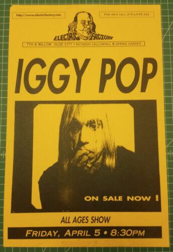 IGGY POP (The Stooges) Original 1996 Concert Poster - Philadelphia