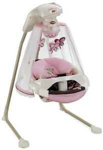 Fisher-Price Papasan Cradle Swing, Mocha  Butterly