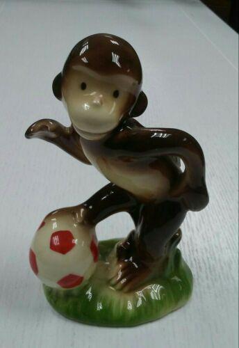 Curious George / Gorham Ceramic Figure / 1981 / Soccer