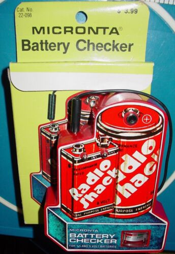 Vintage Radio Shack Tandy Micronta Battery Checker In Box NOS