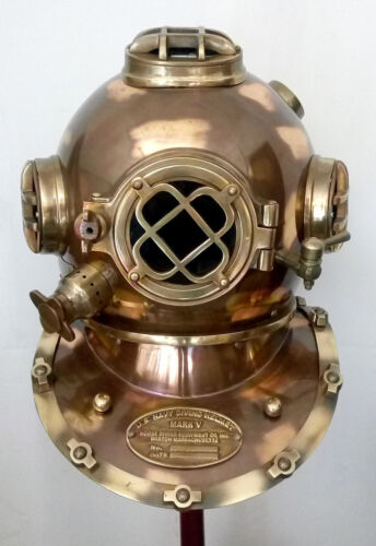 Antique US Navy Mark V Vintage Divers Diving Helmet Full Size Scuba Marine gift
