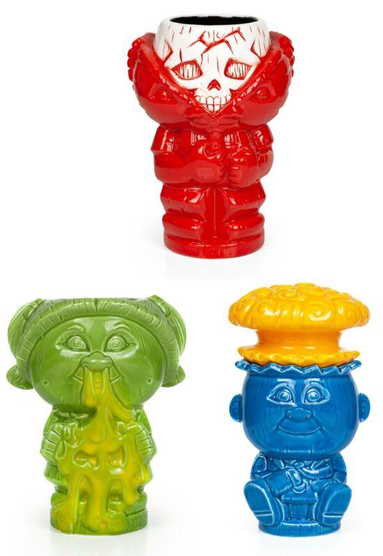 Geeki Tikis Garbage Pail Kids GPK Ceramic  Mugs   Set of 3   Includes 3