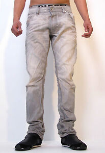 Diesel-Krooley-887Q-0887Q-Jeans-Regular-Slim-Carrot-Designer-Denim-Grey-Men-New