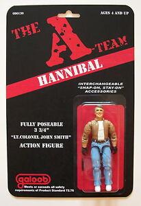 Custom made Hannibal Smith 3 3/4 vintage style A-Team action figure ... Hannibal