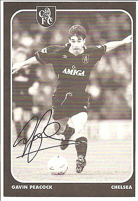 Gavin Peacock, Chelsea signed autographed football book picture.