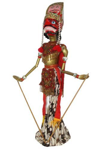 """Vintage 28"""" Wayang Golek PUPPET Wooden Bali Stick Rod Indonesia RAHWANA KING"""