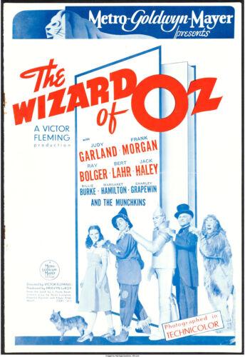 "Movie Poster British Pressbook The Wizard of Oz 1939 10""x14.5"" VF-7"