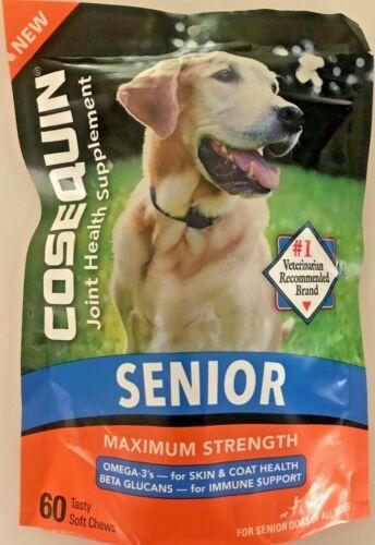 COSEQUIN SENIOR Joint Health Supplement Maximum Strength  NEW 60 TASTY SOFT
