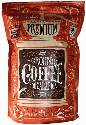 Member's Mark Premium Ground Coffee Medium-Roast 100% Arabica, 40 Ounce ()