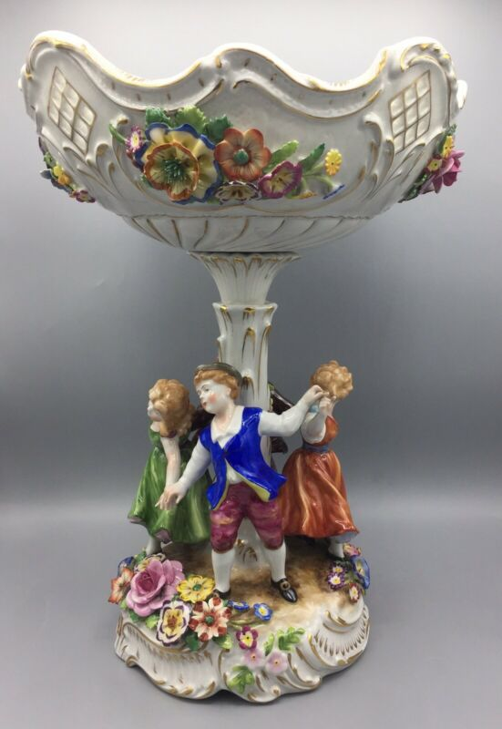 Von Schierholz Germany Centerpiece/Compote Figures & Flowers