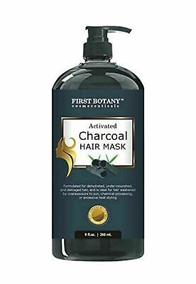 First Botany Activated Charcoal Hair Mask + Green Tea  BEST for Dry Damaged