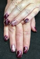 New Set Of French Manicure Gel Nails $30.